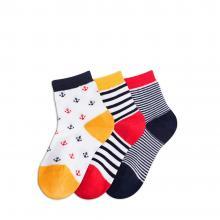 Комплект детских носков Teller Optima из 3 пар БЕЛЫЕ, СИНИЕ и КРАСНЫЕ 300