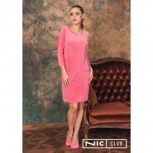 Платье домашнее NicClub КОРАЛЛОВОЕ