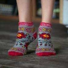 Женские шерстяные короткие носки (Бабушкины носки) СЕРЫЕ