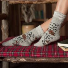 Женские шерстяные носки (Бабушкины носки) СЕРЫЕ