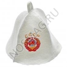 Банная шапка Главбаня БЕЛАЯ,  СССР