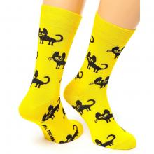 Носки unisex St. Friday Socks CHARMING CAT, Желтые