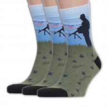 Комплект из 3 пар мужских носков Flappers Peppers МУЛЬТИКОЛОР
