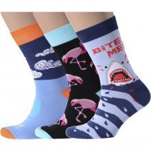 Комплект из 3 пар мужских носков Flappers Peppers микс 15