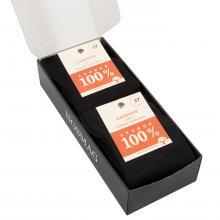 Набор носков из 100% хлопка в кейсе, 7 пар (Смоленская чулочная фабрика) черные