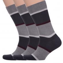 Комплект из 3 пар мужских носков Comfort (Palama) СЕРО-ГРАФИТОВЫЕ