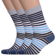 Комплект из 3 пар мужских носков Comfort (Palama) СИНЕ-СЕРЫЕ