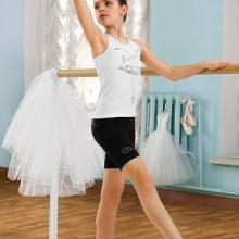 Майка-борцовка для девочек Arina Ballerina БЕЛЫЙ