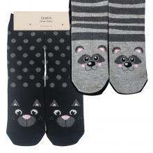 Комплект женских хлопковых носков EKMEN, 2 пары КОТ/ЕНОТ