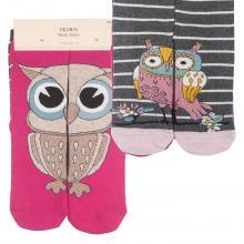 Комплект женских хлопковых носков EKMEN, 2 пары ЯРКО-РОЗОВЫЕ/РОЗОВЫЕ