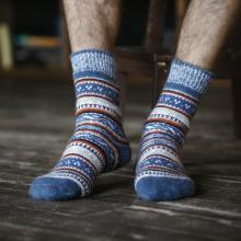 Мужские шерстяные носки (Бабушкины носки) ДЖИНСОВЫЕ