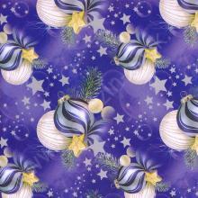 Упаковка 1 кейса в подарочную бумагу  Новый год в синем