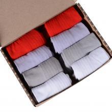 Набор из 8 пар женских коротких носков с махровым следом (ТМ Grinston) микс