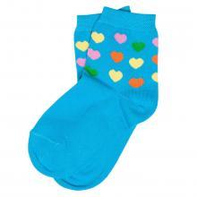 Детские хлопковые носки ХОХ БИРЮЗОВЫЕ