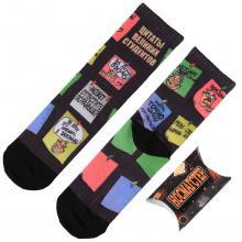 Молодежные носки в подарочной упаковке НОСМАГСТЕР с принтом  Цитаты великих студентов