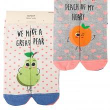 Комплект женских хлопковых носков EKMEN, 2 пары ГРУША/ПЕРСИК