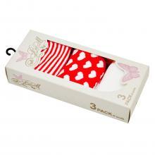 Комплект женских носков (3 пары) BUONUMARE КРАСНЫЕ