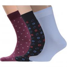 Комплект из 3 пар мужских носков Flappers Peppers микс 20