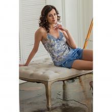 Женская пижама Mia-Mia Бело-голубой