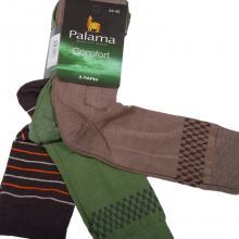 Комплект из 3 пар мужских носков Comfort (Palama) ЗЕЛЕНЫЕ / КОРИЧНЕВЫЕ