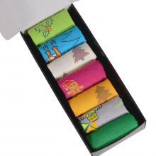 Набор из 7 пар мужских носков от фабрики VIRTUOSO микс  Новый Год