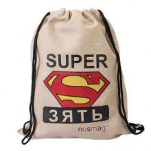 Льняной мешок с принтом «SUPER зять»