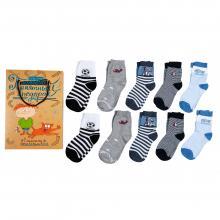 Набор из 10 пар носков для мальчиков  Приятный подарок  (RuSocks) микс