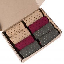 Набор женских носков из хлопка, 8 пар (ТМ Grinston) микс