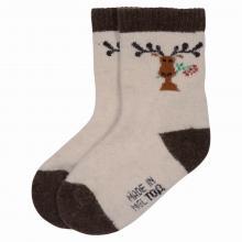 Детские носки из 100% монгольской шерсти (Монголка) СЕРЫЕ