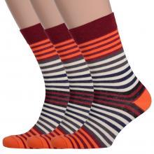 Комплект из 3 пар мужских носков Comfort (Palama) ОРАНЖЕВО-БОРДОВЫЕ
