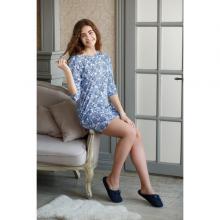 Женское домашнее платье Trikozza КРУЖЕВО НА БЕЛОМ