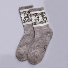 Носки из 100% монгольской шерсти (Монголка) СЕРЫЕ