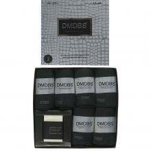 Комплект из 6 пар мужских антибактериальных ароматизированных носков с мылом (DMDBS) черные