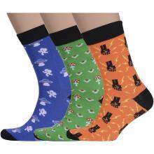 Комплект из 3 пар мужских носков Flappers Peppers микс 24