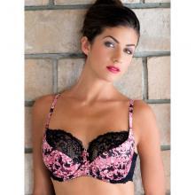 Бюстгальтер Dimanche lingerie Черно-розовый