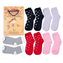 Набор носков для девочек  Приятный подарок , 10 пар МИКС