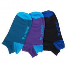 Комплект из 3 пар коротких unisex носков St. Friday Socks черный / фиолетовый / джинс