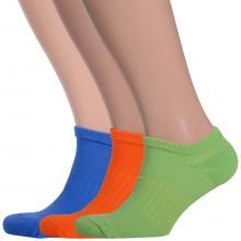 Комплект из 3 пар мужских носков с махровым мыском и пяткой Comfort (Palama) ВАСИЛЬКОВЫЕ / ОРАНЖЕВЫЕ / САЛАТОВЫЕ