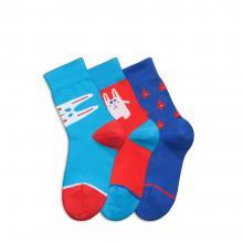 Комплект детских носков Teller Optima из 3 пар СИНИЕ, КРАСНЫЕ и ГОЛУБЫЕ 126