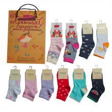 Набор носков для девочек  Приятный подарок  МИКС 2