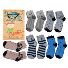 Набор носков для мальчиков  Приятный подарок  МИКС