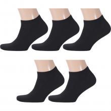 Комплект из 5 пар мужских носков RuSocks (Орудьевский трикотаж) ЧЕРНЫЕ
