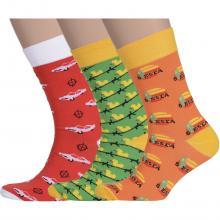 Комплект из 3 пар мужских носков Flappers Peppers микс 25