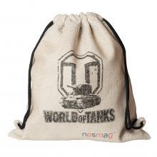 Льняной мешок с надписью «World of tanks»