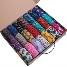 Набор из 21 пары женских хлопковых носков Flappers Peppers микс в кейсе  Цветы