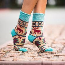 Женские шерстяные носки (Бабушкины носки) МУЛЬТИКОЛОР