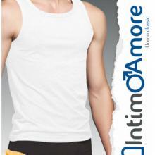 Майка мужская IntimoAmore seamless белая