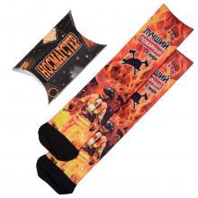 Мужские носки в подарочной упаковке НОСМАГСТЕР с принтом  Лучший пожарный в мире