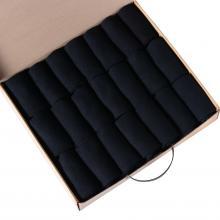 Набор из 21 пар мужских хлопковых носков НосМаг черные