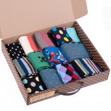 Набор из 12 пар мужских носков (Все радости) МИКС